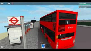 Roblox London Hackney - Limehouse bus Simulator Scania Omnicity (Double Decker) Stagecoach Londres