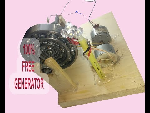 how to make free power bearing energy generator |all time running free generator