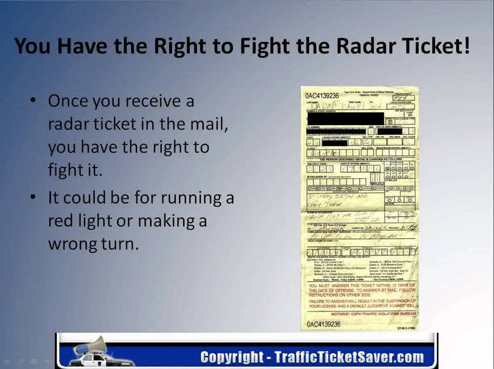 How To Beat A Speeding Ticket >> How To Fight A Radar Ticket