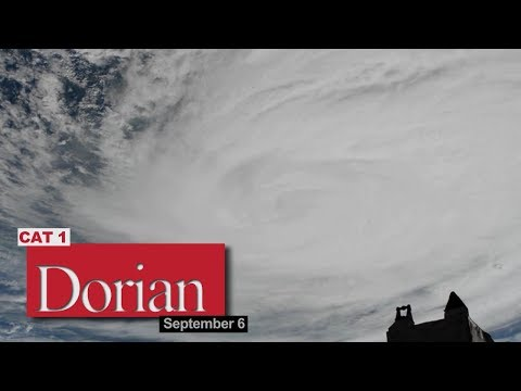 Views of Hurricane Dorian from the International Space Station - September 6, 2019