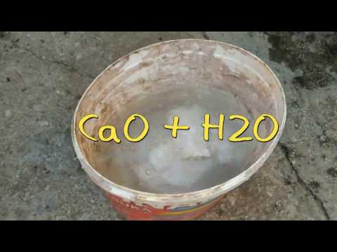 Calcium Oxide And Water CaO + H2O EXPERIMENT