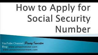 How to Apply for Social Security Number