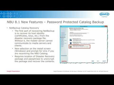 Tech Tuesday - Veritas NetBackup 8.1: What's New? What's Been Enhanced? Things You Need to Know.