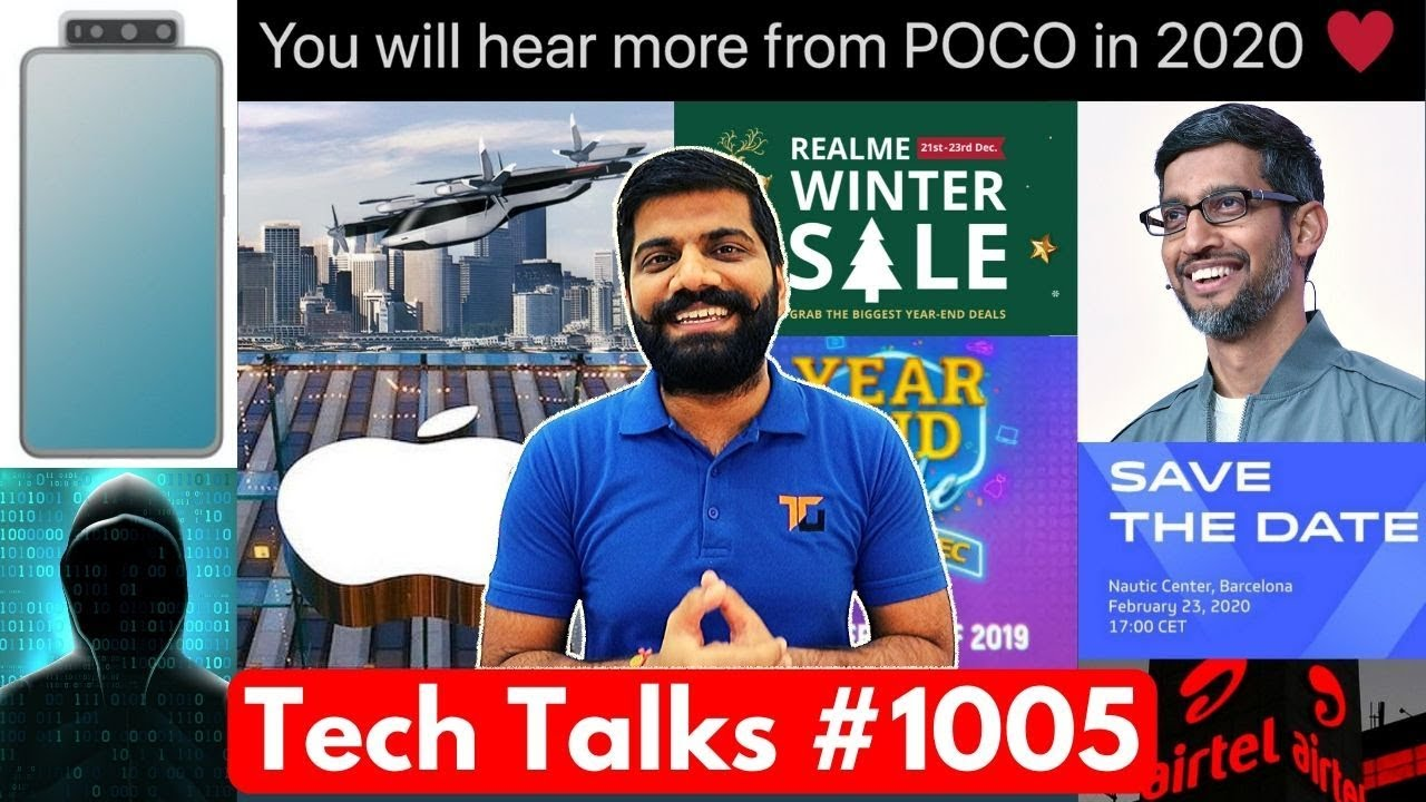 Tech Talks # 1005 - Poco F2 confirmé, prix Apple d'un million de dollars, lancement de la MWC vivo, voiture volante Hyundai + vidéo
