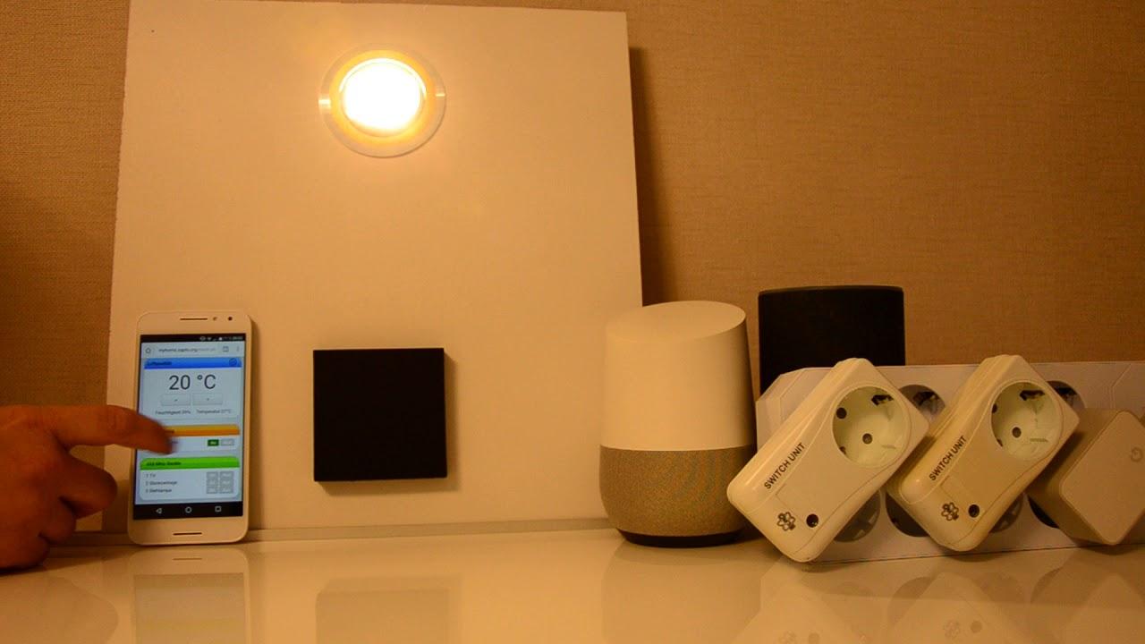 Smart Home Demo Raspberrypi 433mhz Steckdosen Licht