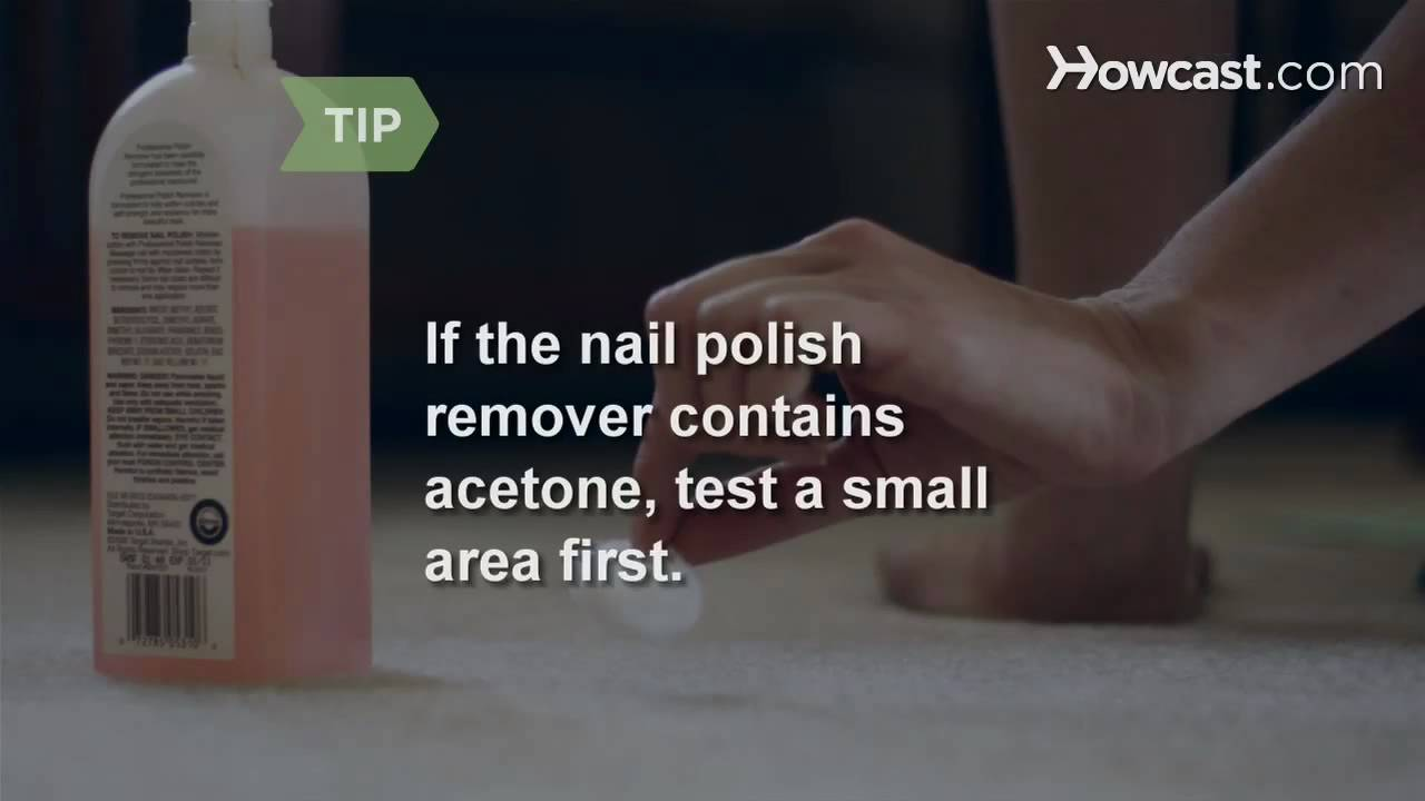 how to get nail polish out of carpet youtube. Black Bedroom Furniture Sets. Home Design Ideas