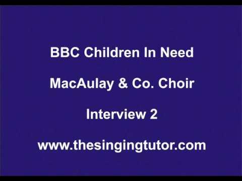 Fred MacAulay interviews Robert Wishart about BBC choir 2