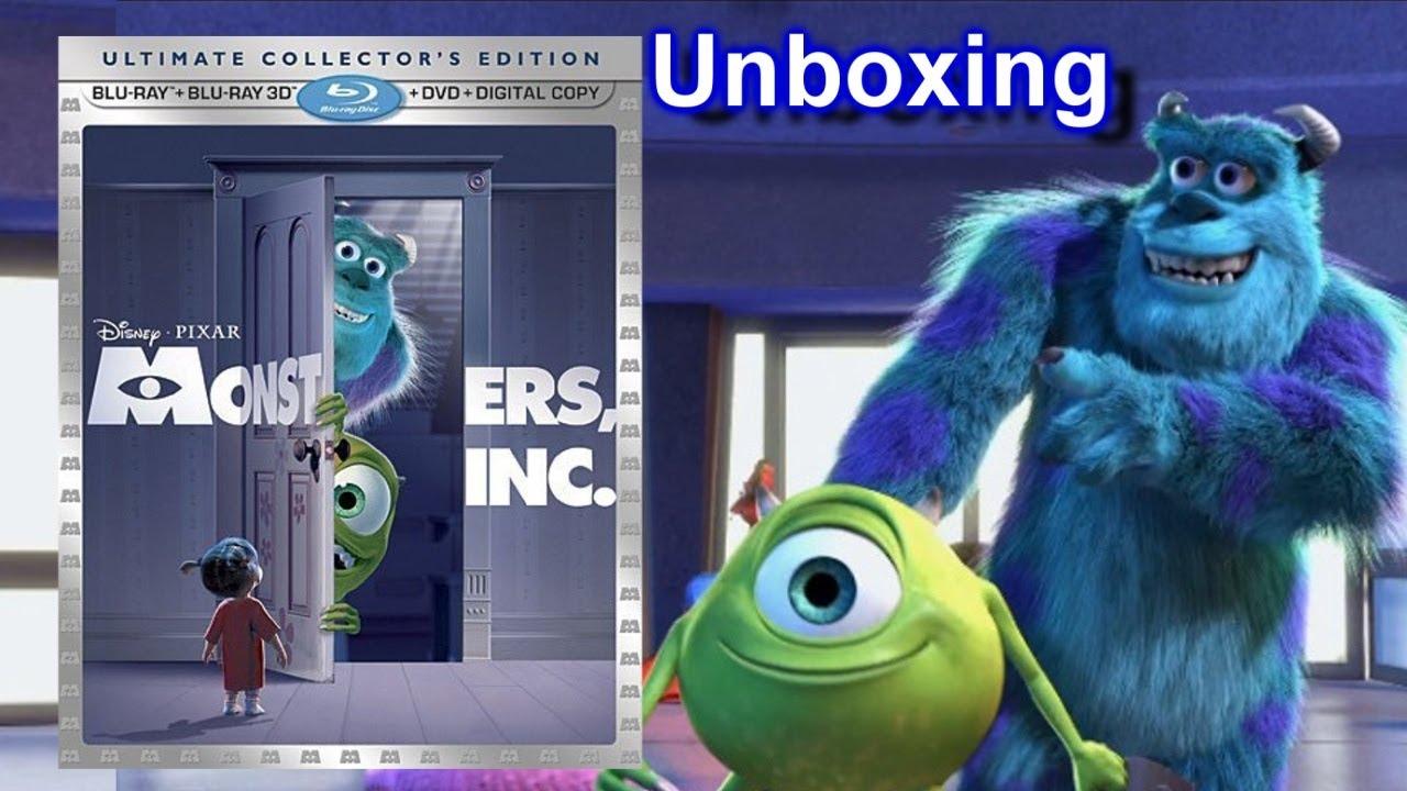 Monsters Inc 3D Blu-ray/DVD Unboxing - (2001) - Disney ...