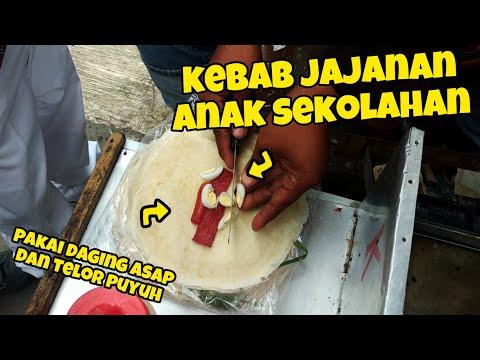 WIDIH MURAH TAPI ISINYA BANYAK!! KEBAB JAJANAN SD JAMAN SEKARANG   INDONESIA STREET FOOD