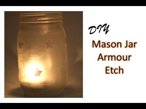Tutorial Armour Etch Mason Jar Candle Youtube