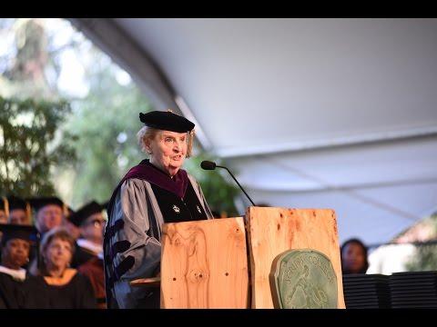 Commencement 2016: Dr. Madeleine Albright