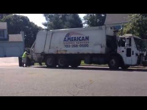 American Disposal Trucks 33 (Trash) and 506 (Yard Waste) - Purcellville, VA