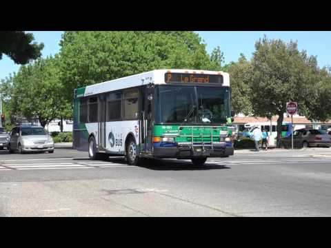 MERCED THE BUS BUS M - 151 ON THE P IN MERCED CALIFORNIA