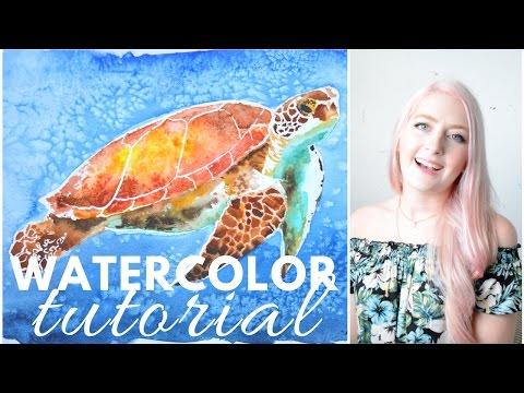 PAINTING TUTORIAL Watercolor Techniques | Katie Jobling Art