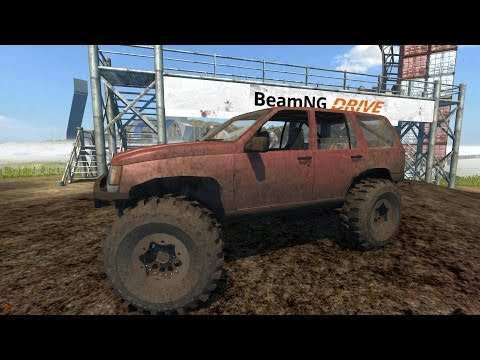 BeamNG Drive Alpha 1994 Jeep Grand Cherokee Trail Ready Crash Testing  #34 HD