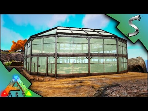 EPIC GREENHOUSE BUILD! DUNG BEETLE TAMING! HUGE FARM! | Ark: Survival Evolved [S3E13]