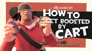 TF2: How to get boosted by cart