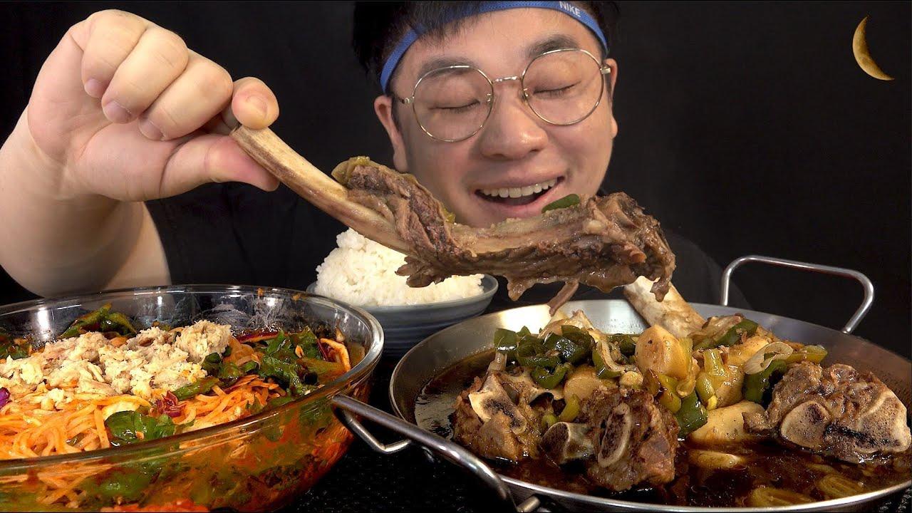 먹방창배tv 왕갈비에 비빔국수 뜯고 후루룩 맛사운드 대박 레전드 Big galbi Bibim guksu mukbang Legend koreanfood asmr