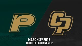 Cal Poly vs. Pacific, Baseball Highlights -- March 3, 2018 Doubleheader Game 2
