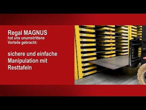 Regal MAGNUS – innovatives Regal für Lagerung von Resttafeln