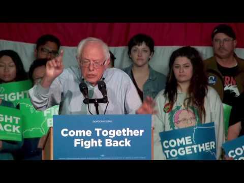Bernie Sanders in Salt Lake City, Utah for Come Together Fight Back Tour April 21, 2017