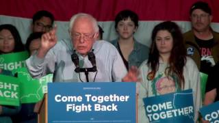 Bernie Sanders in Salt Lake City, Utah for Come Together Fight Back Tour April 21, 2017
