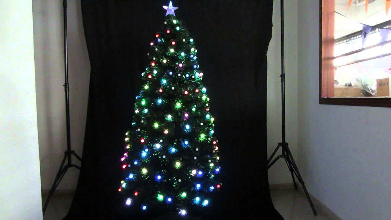 180cm Multi LED Bulbs & Fibre Optic Christmas Tree