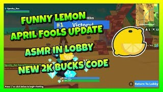 NEW LEMON APRIL FOOLS UPDATE 🍋 | ASMR IN LOBBY 😂 | 2K BUCKS CODE 🔥 | ROBLOX ISLAND ROYALE 🌴