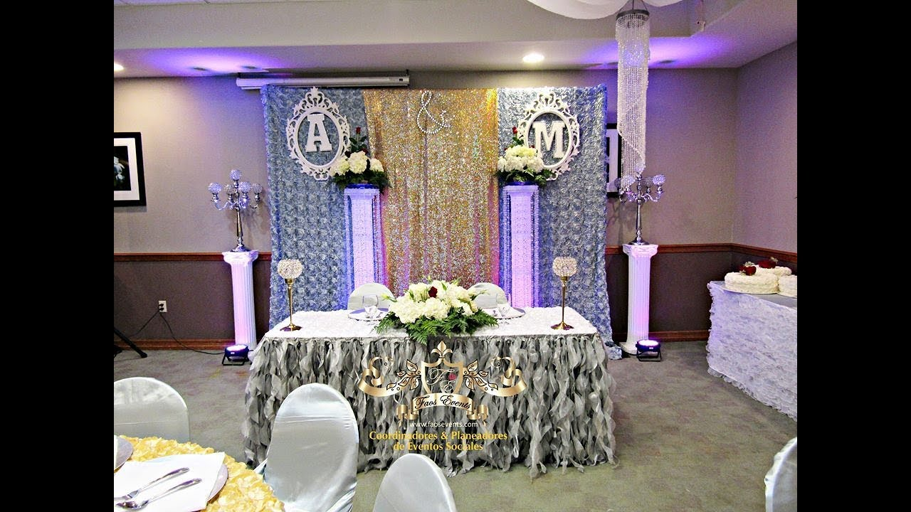 Decoracion Bodas De Oro ~ FAOS EVENTS DECORACION DE BODA COLOR ORO Y PLATA  YouTube