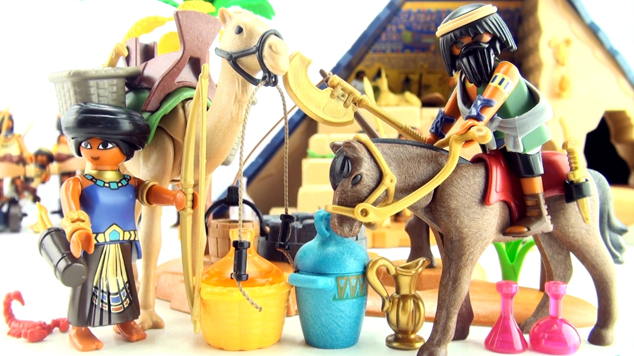 Playmobil tomb raiders 39 camp 5387 egyptian oasis well - Playmobil egyptien ...