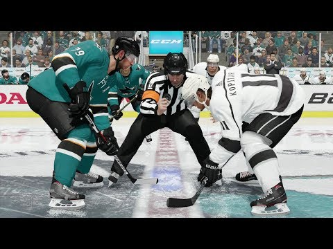 NHL 18 San Jose Sharks vs Los Angeles Kings Gameplay (Full Game)