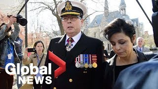 Canadian Vice Admiral Mark Norman, lawyer speak about trial after charges dropped
