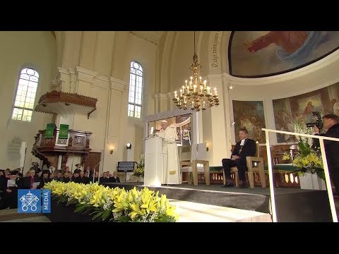 Pope to Estonian youth: you are angry about sexual scandals that aren't clearly condemned
