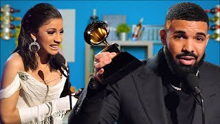 """Drake says """"F*** The Grammy's!"""", Cardi B. Compared to Lauryn Hill after Grammy Win & More!"""