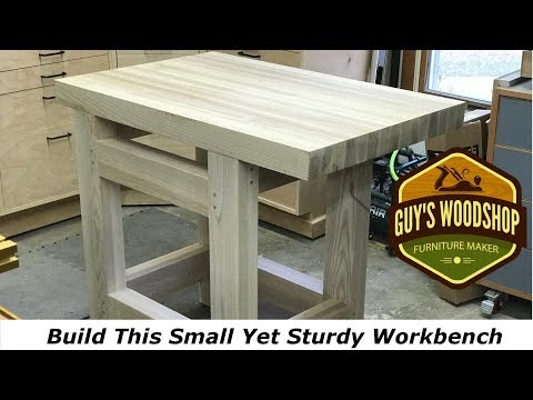 Develop This Minimal Solid Hand Tool Workbench//Woodworking Exactly How To