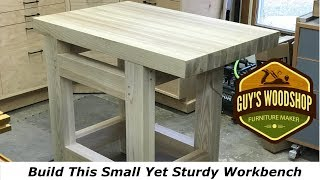 How To Build This Small Sturdy Hand Tool Workbench//Woodworking How To