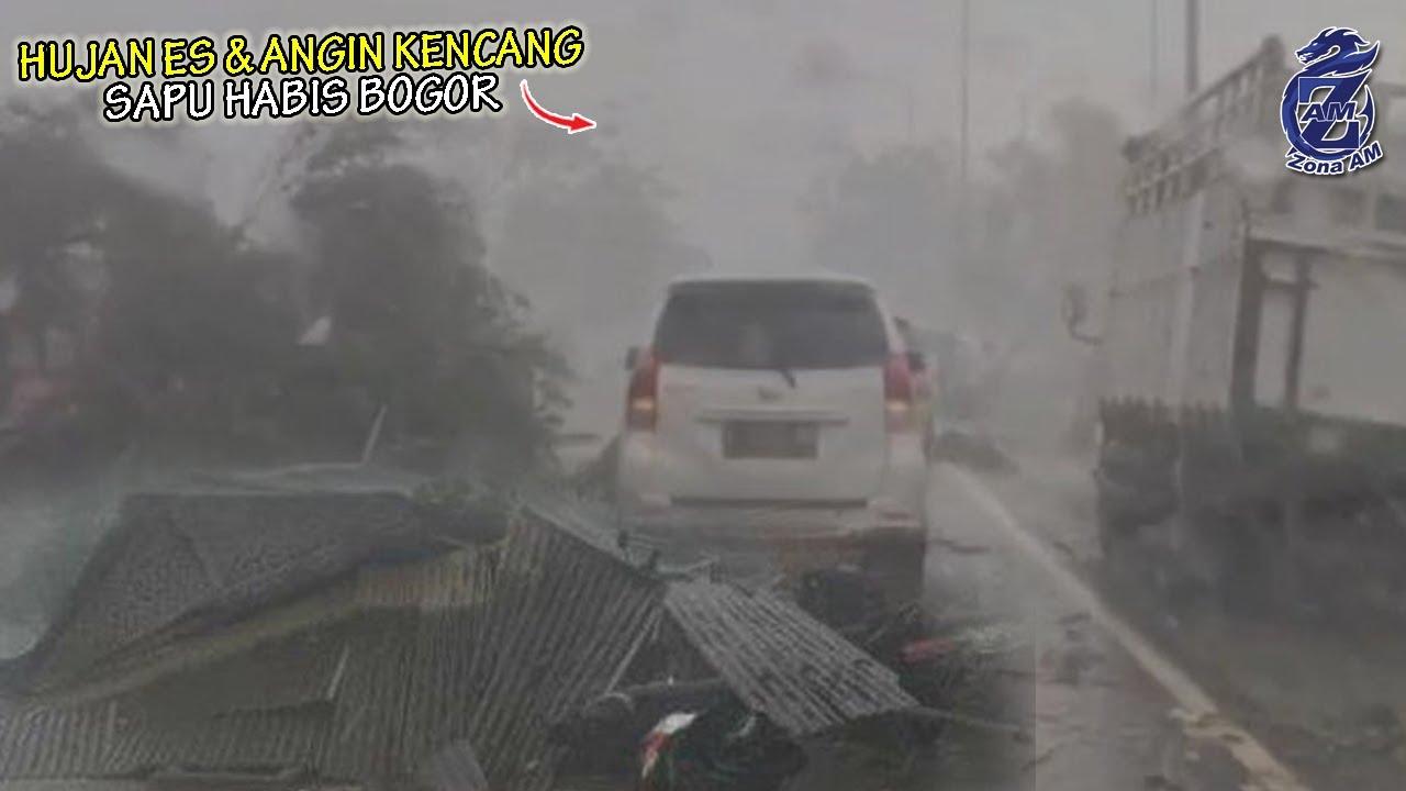 Hujan Badai Tiba² Hantam BOGOR! Segalanya Hancur Berantakan Dalam Hitungan Detik, Warga Panik
