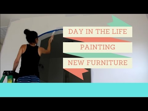 DAY IN THE LIFE | STAY AT HOME MOM | PAINTING, NEW FURNITURE & COOKING