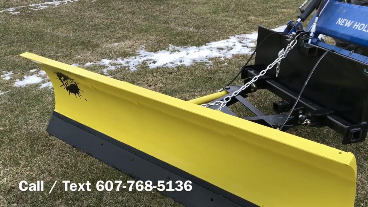 skid steer    tractor quick attach 7 5 u0026 39  fisher snow plow
