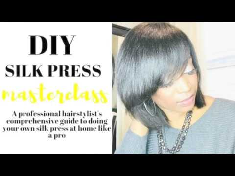 How To Silk Press Your Own Hair Like A Pro At Home Youtube