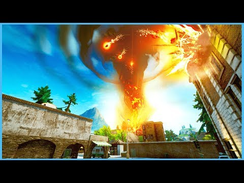 TILTED TOWERS HAS BEEN DESTROYED & THE DRUM GUN IS BACK! (VOLCANO ERUPTION EVENT in FORTNITE)