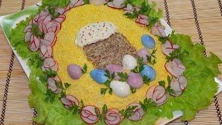 #Как приготовить #Салат с# крабовыми# палочками,и #вкусно и #очень #красиво