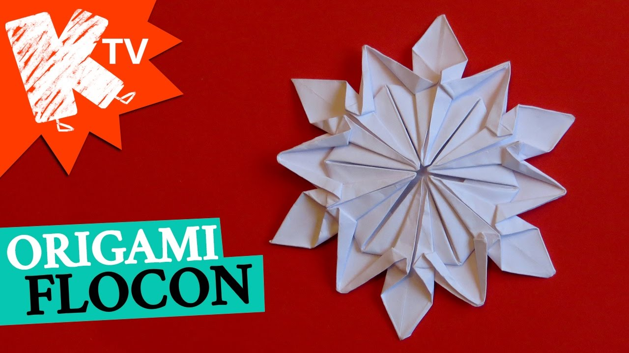 flocon en papier origami diy d co no l youtube. Black Bedroom Furniture Sets. Home Design Ideas