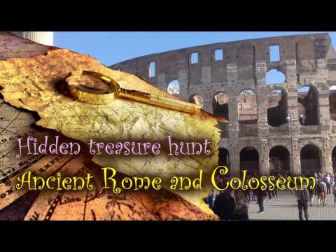 Hidden treasure hunt Ancient Rome and Colosseum