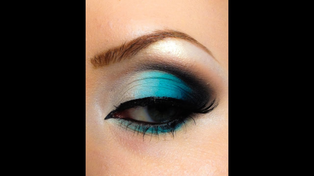Turquoise makeup look tutorial - YouTube
