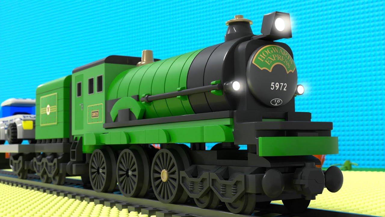 Lego Train Fail - Lego police car fail - choo choo train kids videos