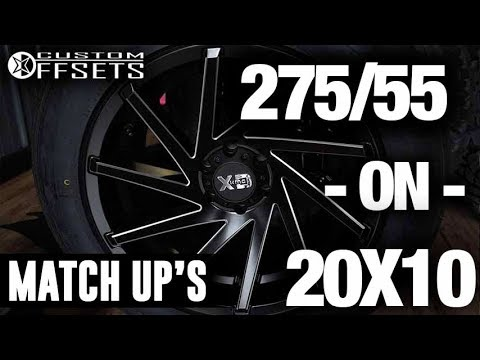 Custom Offsets Match Up 27555 R20 On A 20x10 18 Youtube