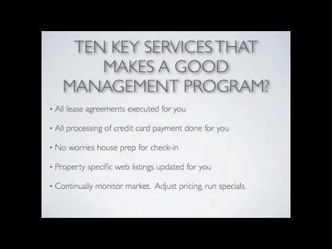 Vacation Property Management Review Youtube