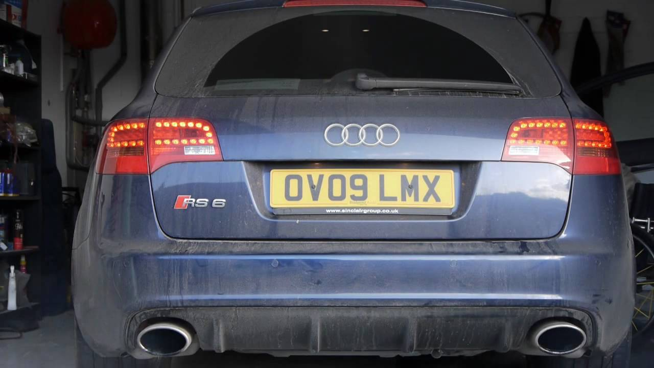 Audi Rs6 V10 Before And After Milltek Catback Exhaust