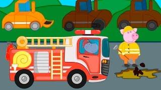 Мультфильмы Профессии для детей - Мультики про машинки и разную технику.